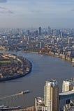 Vue panoramique de Londres Images stock