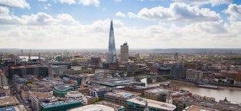 Vue panoramique de Londres de cathédrale de St Pauls Image libre de droits