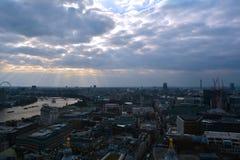 Vue panoramique de Londres, R-U Photographie stock