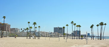 Vue panoramique de Long Beach Photo stock