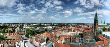Vue panoramique de Luebeck image stock