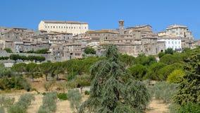 Vue panoramique de Lugnano dans Teverina Ombrie, Italie Photo libre de droits