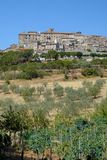 Vue panoramique de Lugnano dans Teverina Ombrie, Italie Images stock