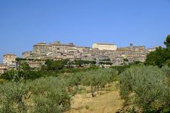 Vue panoramique de Lugnano dans Teverina Ombrie, Italie Image libre de droits