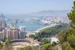 Vue panoramique de Malaga Images libres de droits