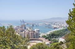 Vue panoramique de Malaga Photos stock
