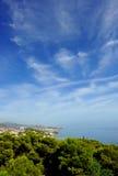 Vue panoramique de Malaga, EL Palo, Andalousie, Espagne Photographie stock libre de droits