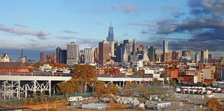 Vue panoramique de Manhattan les Etats-Unis neufs York images libres de droits