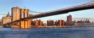 Vue panoramique de Manhattan les Etats-Unis neufs York image stock