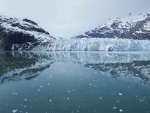 Vue panoramique de Margerie Glacier en parc national de baie de glacier photos libres de droits