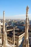 Vue panoramique de Milan Image stock