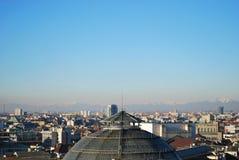 Vue panoramique de Milan Images stock