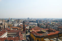 Vue panoramique de Milan, Italie Photos stock