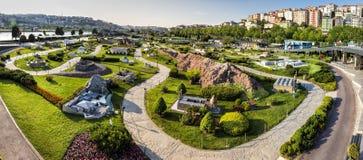 Vue panoramique de Miniaturk à Istanbul Photo libre de droits