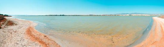 Vue panoramique de Molentargius Photos libres de droits