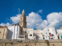 Vue panoramique de Monopoli. Apulia. Images libres de droits