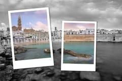 Vue panoramique de Monopoli La Puglia, Italie du sud Mer en été Station de vacances italienne Photo stock