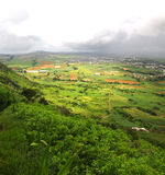 Vue panoramique de montagne de Le Pouce, Mauriitus Photographie stock