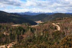 Vue panoramique de montagne de neige de Meili Photos libres de droits