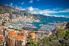 Vue panoramique de Monte Carlo Images libres de droits