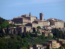 Vue panoramique de Montepulciano image stock