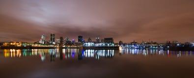 Vue panoramique de Montréal image libre de droits