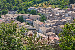 Vue panoramique de Morano Calabro La Calabre l'Italie Photos libres de droits