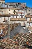 Vue panoramique de Morano Calabro La Calabre l'Italie Image stock