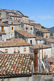 Vue panoramique de Morano Calabro La Calabre l'Italie Photographie stock libre de droits