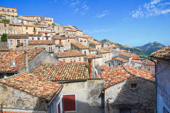Vue panoramique de Morano Calabro La Calabre l'Italie Photographie stock