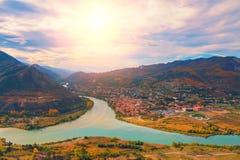 Vue panoramique de Mtskheta image stock