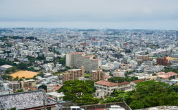 Vue panoramique de Naha du haut de château de Shuri photos stock