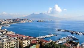 Vue panoramique de Naples Image stock