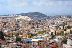 Vue panoramique de Nazareth, au nord de l'Israël photographie stock libre de droits