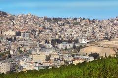 Vue panoramique de Nazareth, Galilée, Israël photographie stock libre de droits