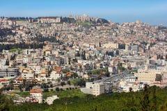Vue panoramique de Nazareth, Galilée, Israël photographie stock