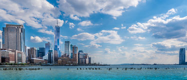 Vue panoramique de New York City image libre de droits