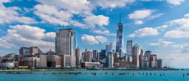 Vue panoramique de New York City images libres de droits