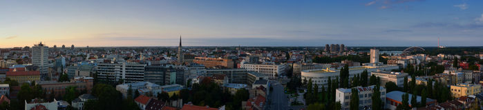 Vue panoramique de Novi Sad, Serbie photographie stock libre de droits
