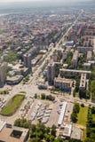 Vue panoramique de Novi Sad, Voïvodine, Serbie photographie stock libre de droits