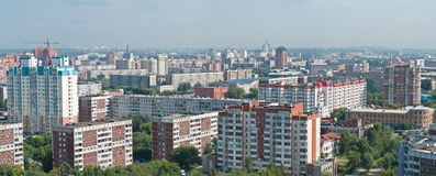 Vue panoramique de Novosibirsk Photographie stock