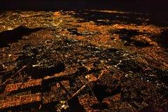 Vue panoramique de nuit de Mexico, Mexique photos stock