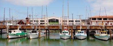 Vue panoramique de pêcheur Wharf San Francisco photos stock