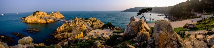 Vue panoramique de parc de Daewangam, Ulsan, Corée du Sud Images stock