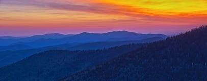 Vue panoramique de parc national de montagnes fumeuses Photographie stock