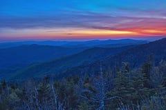 Vue panoramique de parc national de montagnes fumeuses Images stock