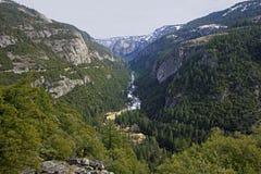 Vue panoramique de parc national de Yosetime Images stock