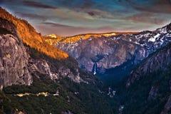 Vue panoramique de parc national de Yosetime Photo stock