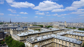 Vue panoramique de Paris Images libres de droits