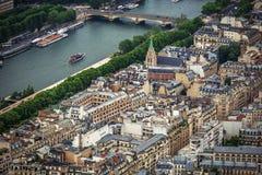 Vue panoramique de Paris, France photo stock